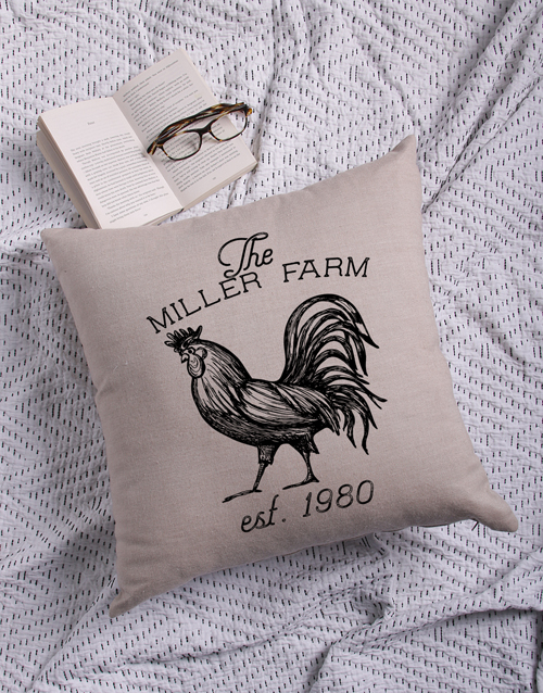 christmas: Personalised Farm Scatter Cushion!