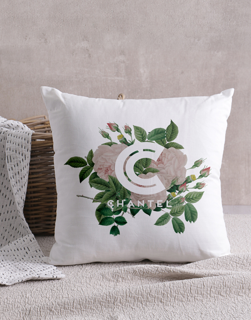 mothers-day: Personalised Floral Initial Scatter Cushion!