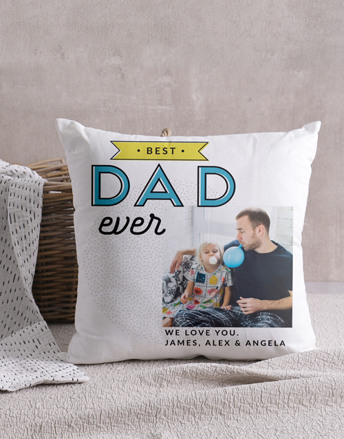 christmas: Personalised Best Dad Photo Scatter Cushion!