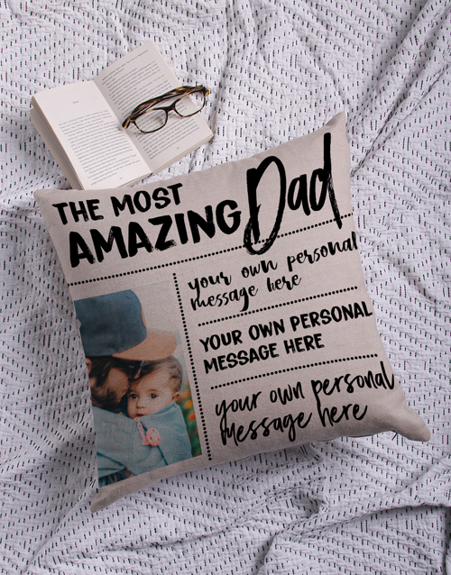 personalised: Personalised Amazing Dad Photo Scatter Cushion!