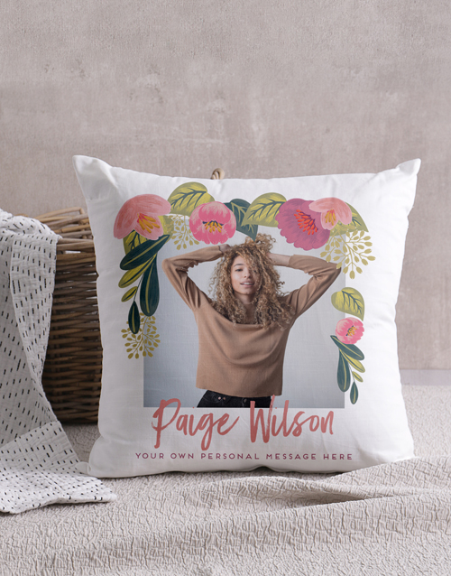 mothers-day: Personalised Floral Photo Scatter Cushion!