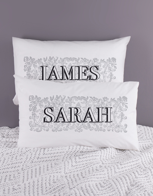 christmas: Personalised Name Scroll Pillowcase Set!