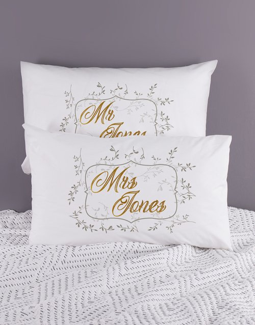 christmas: Personalised Ditsy Leaf Pillowcase Set!