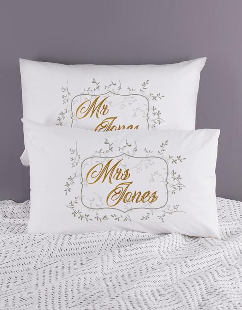 anniversary: Personalised Ditsy Leaf Pillowcase Set!
