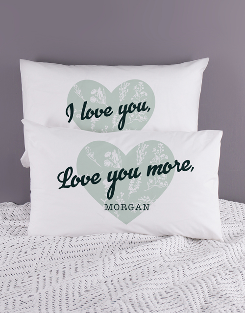 anniversary: Personalised Love Your Heart Pillowcase Set!