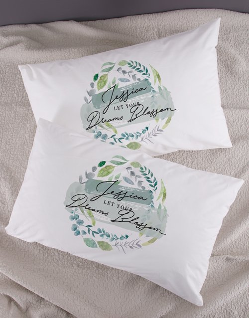 christmas: Personalised Dreams Blossom Pillowcase Set!