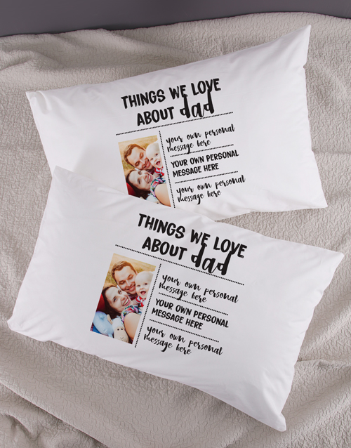 anniversary: Personalised Love About Pillowcase Set!
