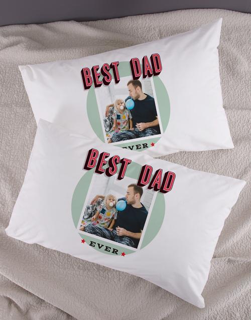 anniversary: Personalised Best Dad Photo Pillowcase Set!