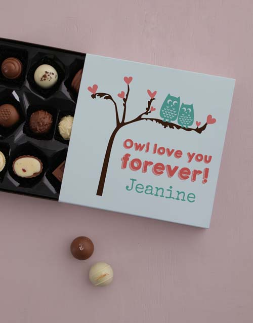 personalised: Personalised Owl Always Love You Choc Tray!