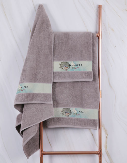 gifts: Personalised Watercolour Stone Towel Set!