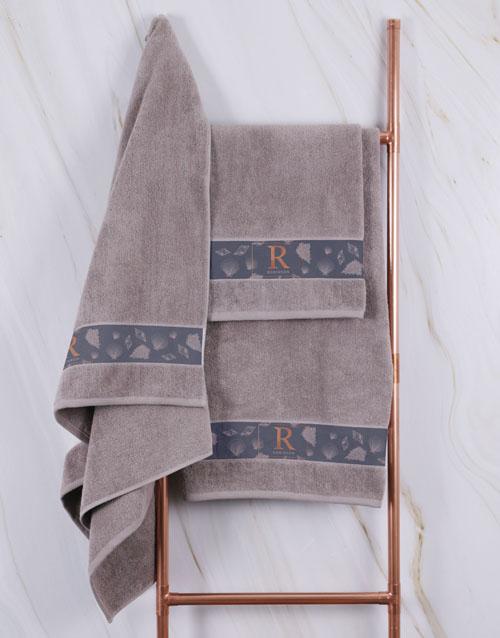 mothers-day: Personalised Glam Coastal Stone Towel Set!