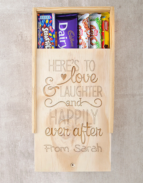 personalised: Personalised Happily Ever After Chocolate Box!