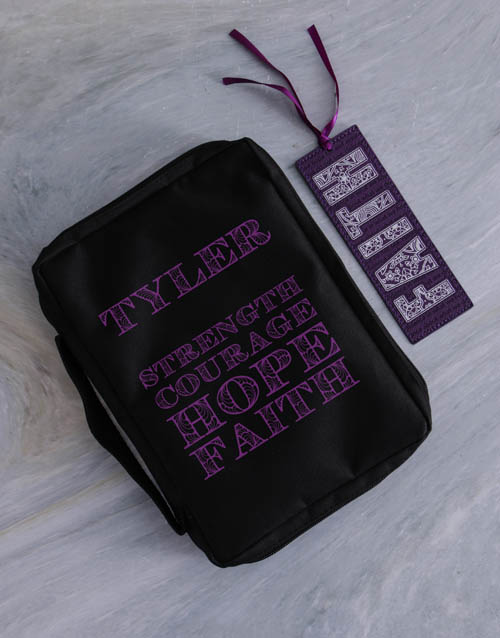 personalised: Personalised Bible Case And Bookmark!