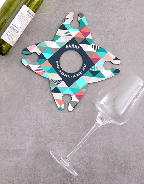 christmas: Personalised Add More Wine Glass & Bottle Holder !