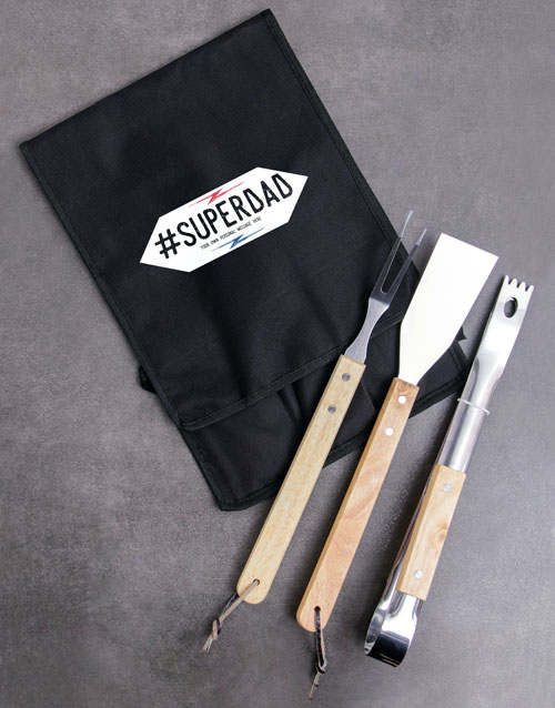 fathers-day: Personalised Superdad Braai Tong Bag!