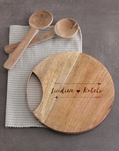 personalised: Personalised Couples Round Chopping Board!