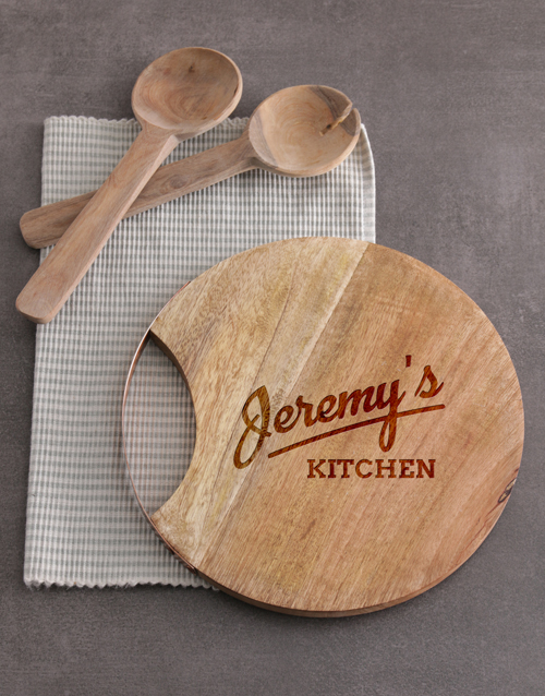 womens-day: Personalised Kitchen Round Chopping Board!