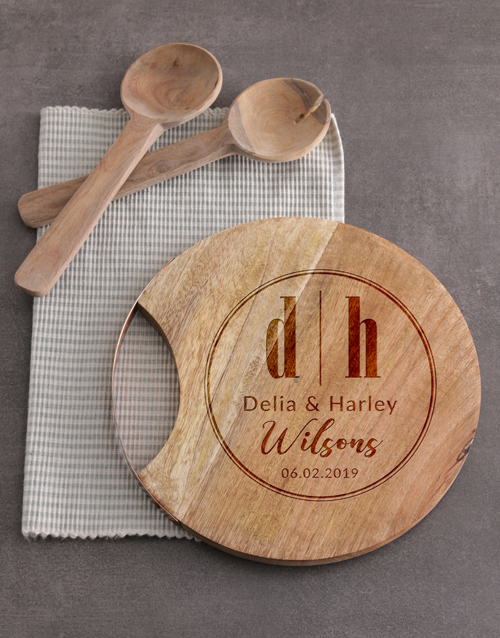 personalised: Personalised Initials Round Chopping Board!