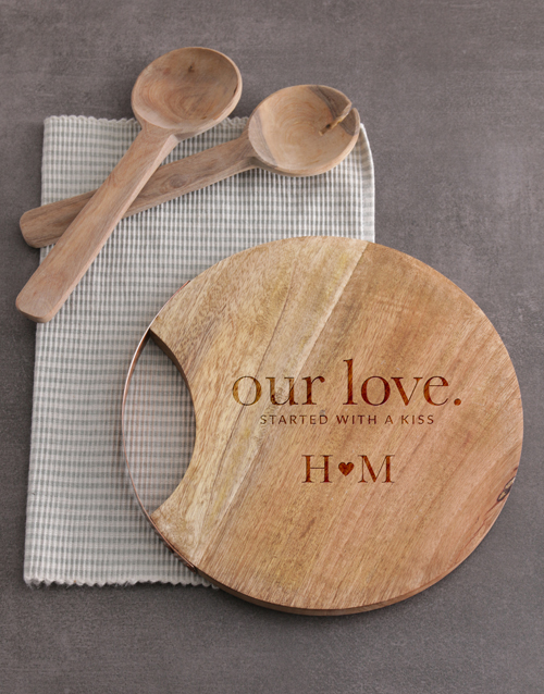 personalised: Personalised Our Love Round Chopping Board!