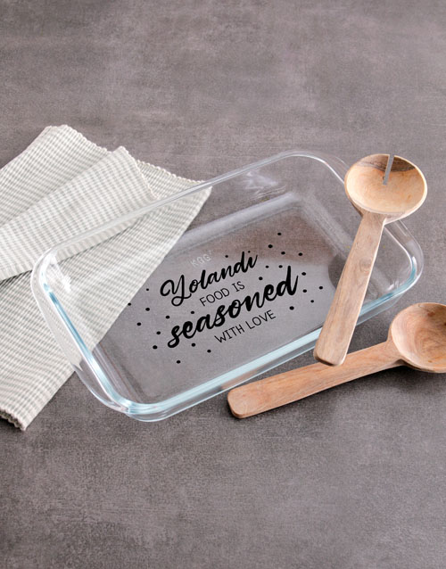 christmas: Personalised Seasoned With Love Cooking Dish!