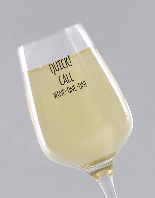homeware: Personalised Quick Call Single Wine Glass !