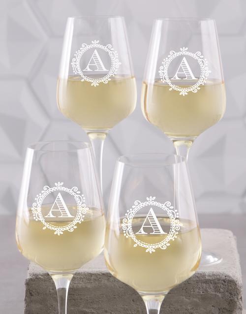 valentines-day: Personalised Monogram Wine Glass Set!