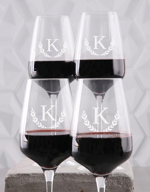 valentines-day: Personalised Wreath Monogram Wine Glass Set!