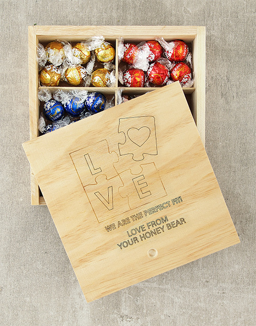 Chocolate Gift Boxes South Africa : Buy personalised perfect fit lindt box netflorist