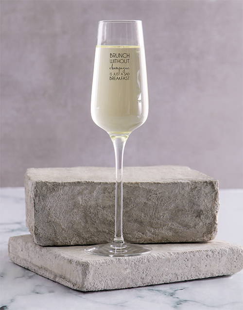 birthday: Personalised Brunch Single Champagne Glass!
