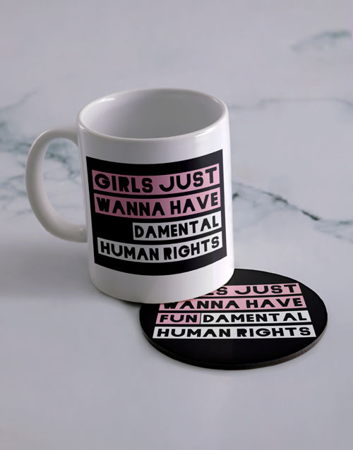 homeware: Personalised Have Fun Mug And Coaster Set!