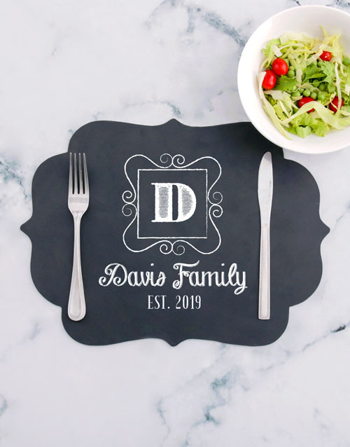christmas: Personalised Family Chalk Board Placemat!