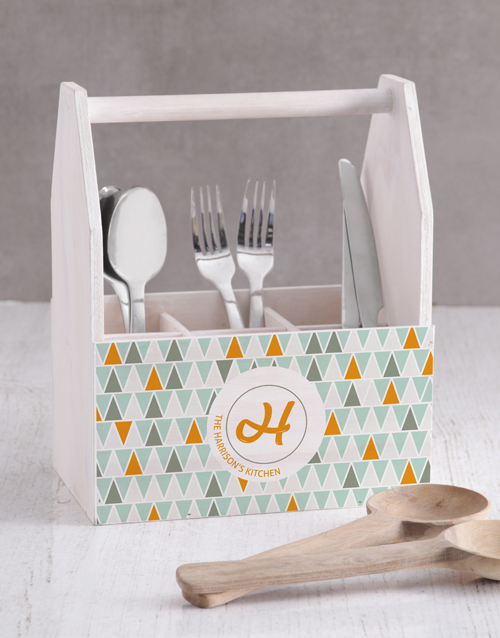 homeware: Personalised Trigonal Patterns Utensil Holder!
