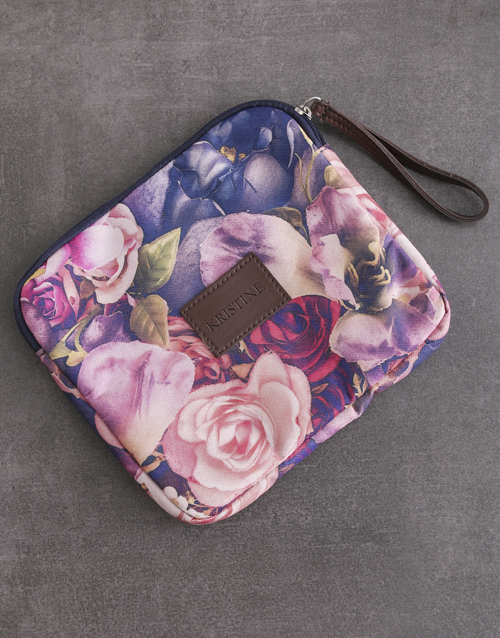 personalised: Personalised Floral Tablet Zip Up Pouch!