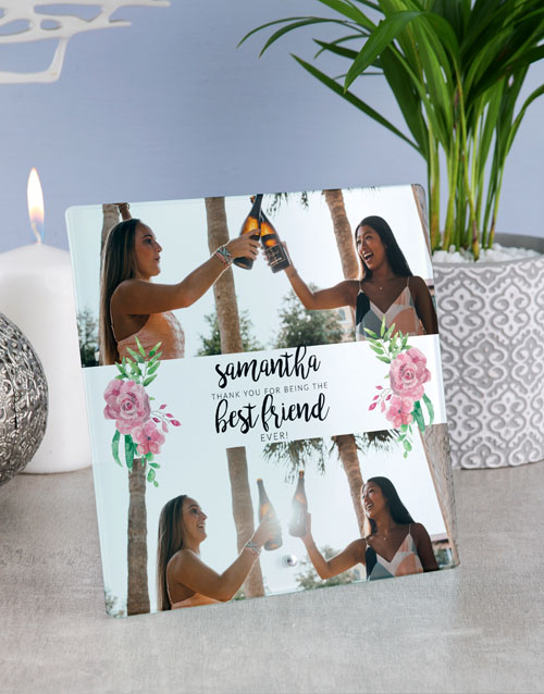 home-decor: Personalised Best Friend Glass Tile !