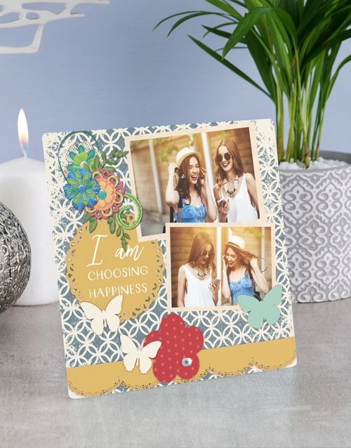 home-decor: Personalised Happiness Glass Tile !
