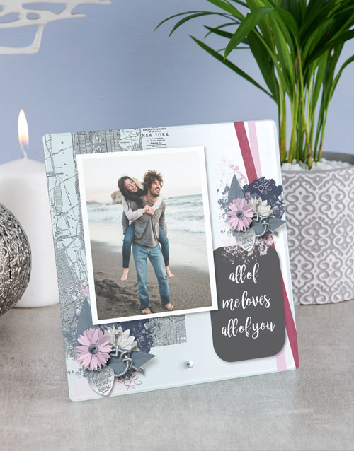 anniversary: Personalised All Of Me Glass Tile !