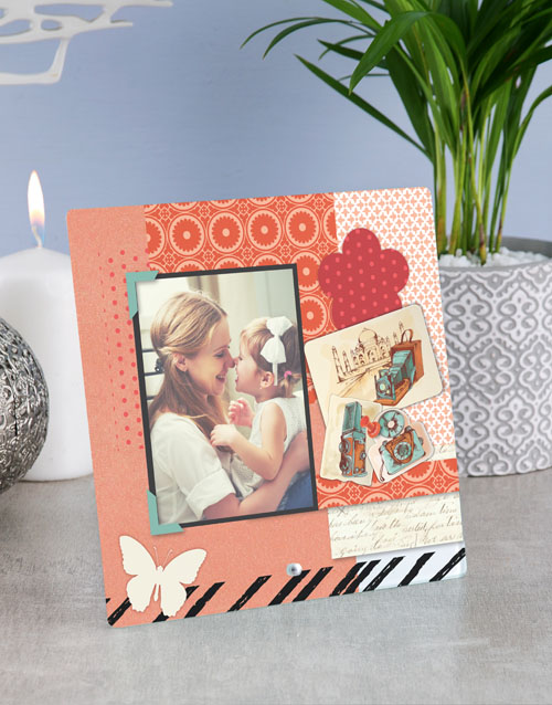 home-decor: Personalised Scrap Book Glass Tile !