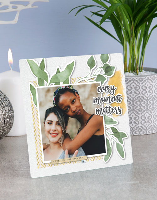 home-decor: Personalised Every Moment Glass Tile !