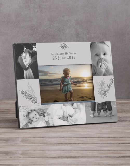home-decor: Personalised Baby Multi Photo Frame !