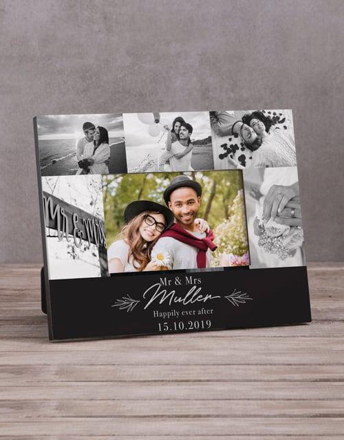 anniversary: Personalised Mr & Mrs Multi Photo Frame !