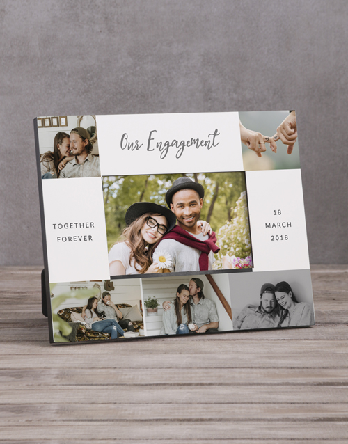 home-decor: Personalised Our Engagment Multi Photo Frame !