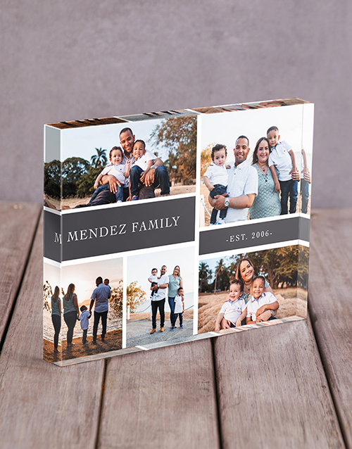 personalised: Personalised Family Multi Acrylic Block!