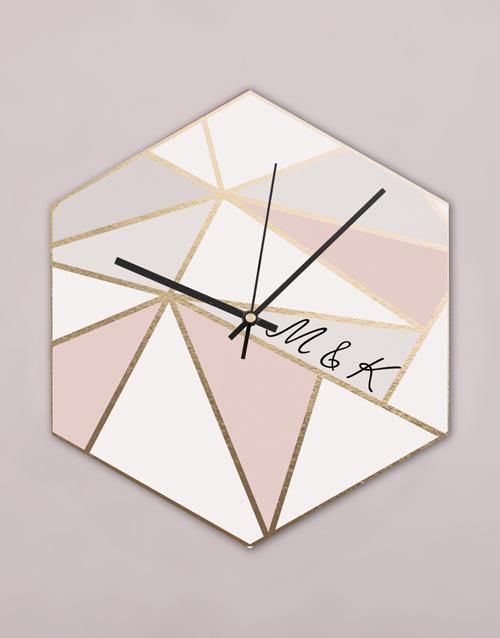 personalised: Personalised Modern Hexagon Clock!