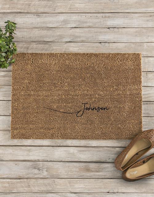 personalised: Personalised Surname Doormat !