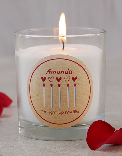 personalised: Personalised Light Up My Life Candle!