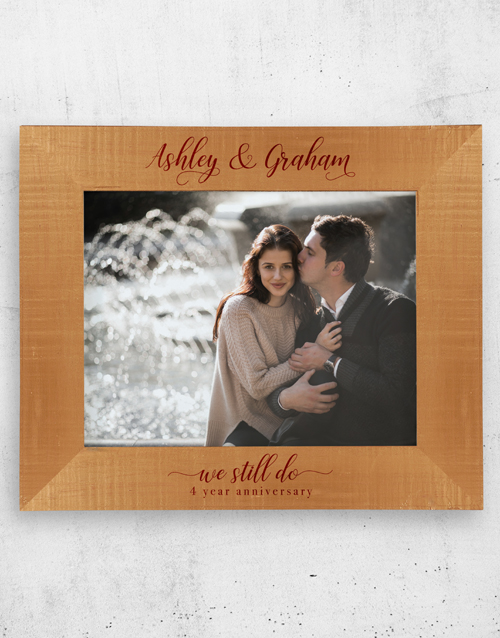 anniversary: Personalised We Still Do A3 Photo Frame!