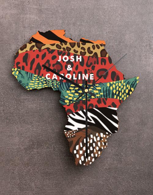 personalised: Personalised Couple Africa Clock!