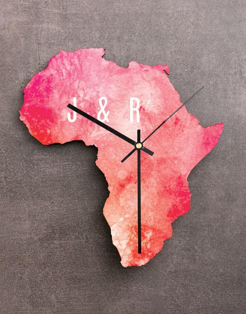 personalised: Personalised My Heart Africa Clock!