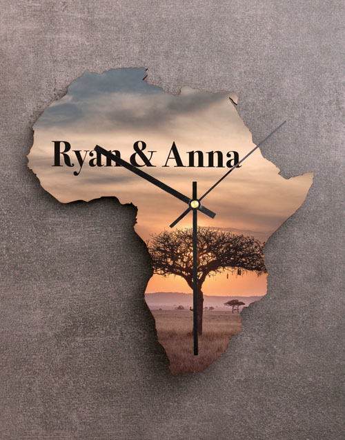 personalised: Personalised Couples Sunset Africa Clock!