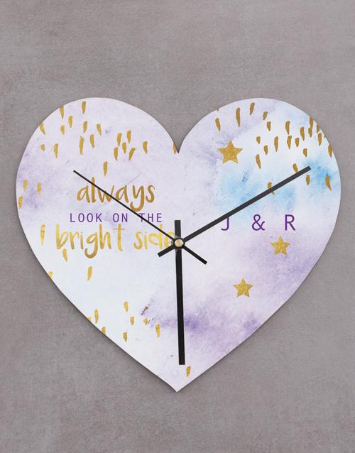 personalised: Personalised Bright Side Heart Clock!